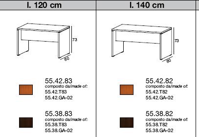 Misure scrivania ufficio idee di design per la casa for Misure scrivania