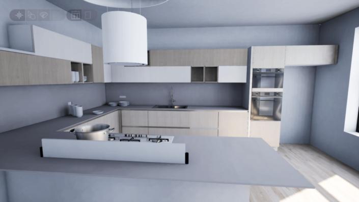 Progettazione arredamento Roma design con render gratuito